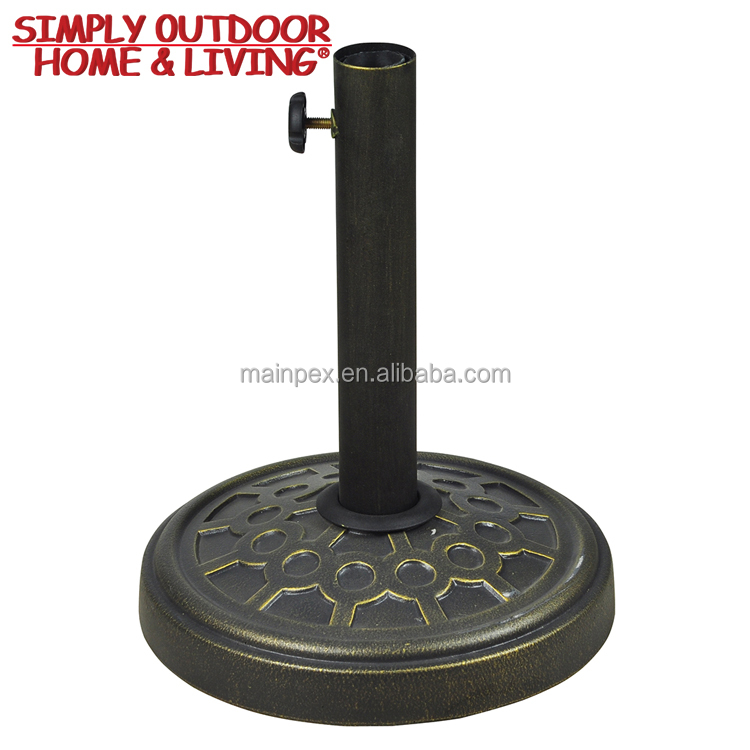 Hot Sale Outdoor Universal Patio Round Cast Iron Parasol Umbrella Base Stand Market