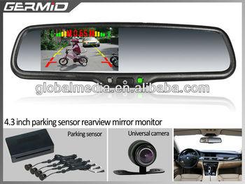 4 3 inch car rearview mirror with reversing camera special for kia carens borrego sorento. Black Bedroom Furniture Sets. Home Design Ideas