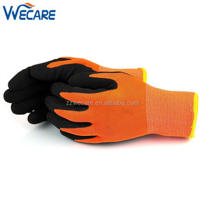 Heavy Duty Two Layers Cold Weather Winter Outdoor Driving Work Micro Sandy Latex Coated Gloves