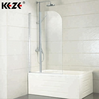 High Quality Tempered Glass Folding Simple Bathtub Shower Door