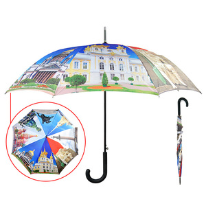 Fantastic Umbrella Hot selling printed artwork automatic open inside full color print umbrella