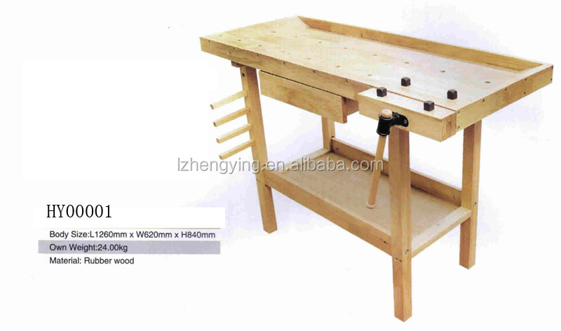 Woodworking Bench Wood Tool Table For Carpenters HY00001