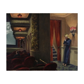 Free Shipping Edward Hopper Giclee Canvas Print Paintings Poster Reproduction Fine Art Wall Decor(New York Movie)