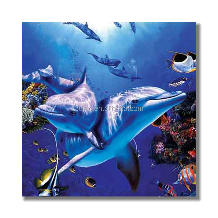 3d decoration wall hanging 3D lenticular picture/frameless plastic picture