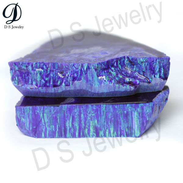Good quality Purple Synthetic Rough rainbow opal