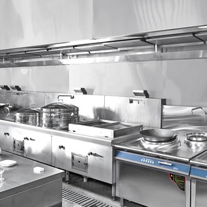 Foronels Heavy Duty Full Set Commercial Cooking 304 Stainless Steel Kitchen Equipment For Hospital