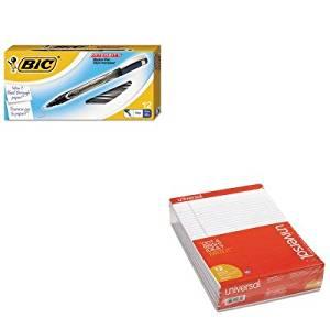KITBICFPIN11BEUNV20630 - Value Kit - BIC Intensity Permanent Pen (BICFPIN11BE) and Universal Perforated Edge Writing Pad (UNV20630)