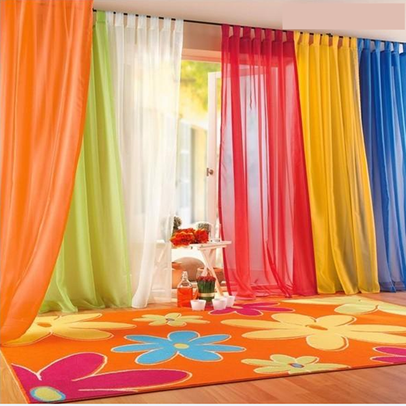 Colorful Room Decor: Brand New 2016 Window Curtains Hot Sale Solid Color For
