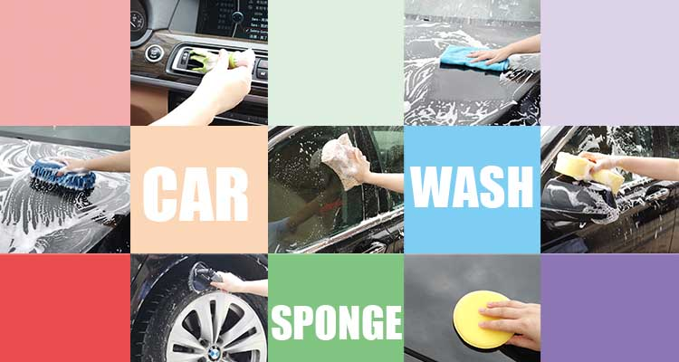 High quality polyester and sponge car wash tool set