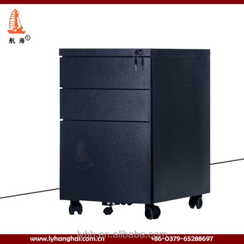 High Quality Mobile Pedestal 3 Drawer Metal File Cabinet/mobile Pedestal  Cabinet/black File