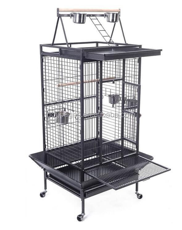 Double Ladders Wrought Iron Parrot Cage