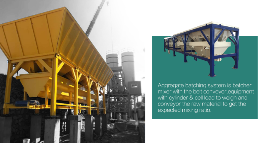 4x16m3 Accurate Automatic Coarse Aggregate Weighing Plant