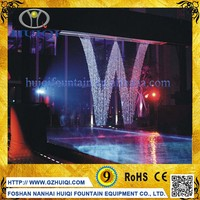 Graphic Digital Waterfall Water Curtain Fountain Decorative Romantic Wedding Indoor