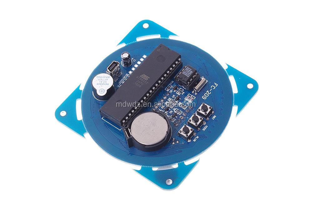 DIY Ds1302 Rotation LED Electronic Clock Kit 51 SCM Learning Board