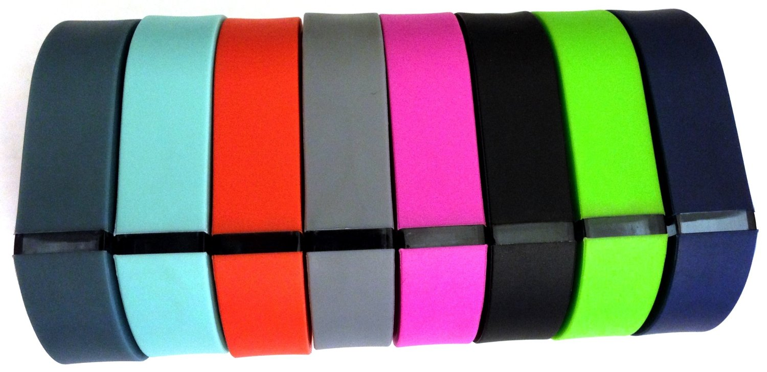 Set 8 Colors Small S 1pc Grey 1pc Teal (Blue/Green) 1pc Purple/Pink 1pc Red (Tangerine) 1pc Green 1pc Black 1pc Navy Blue 1pc Slate (Blue/Grey) Replacement Bands With Clasp for Fitbit FLEX Only /No tracker/ Wireless Activity Bracelet Sport Wristband Fit Bit Flex Bracelet Sport Arm Band Armband