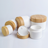 30g 50g 100g 150g 250g eco friendly plastic cosmetic jar with bamboo lids