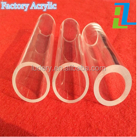 2016 PMMA Material white clear plastic pipe industry acrylic square tube