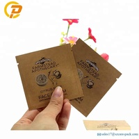 Kraft Paper Face Cream Sachet Pouch Cosmetic Cream Sample Packet