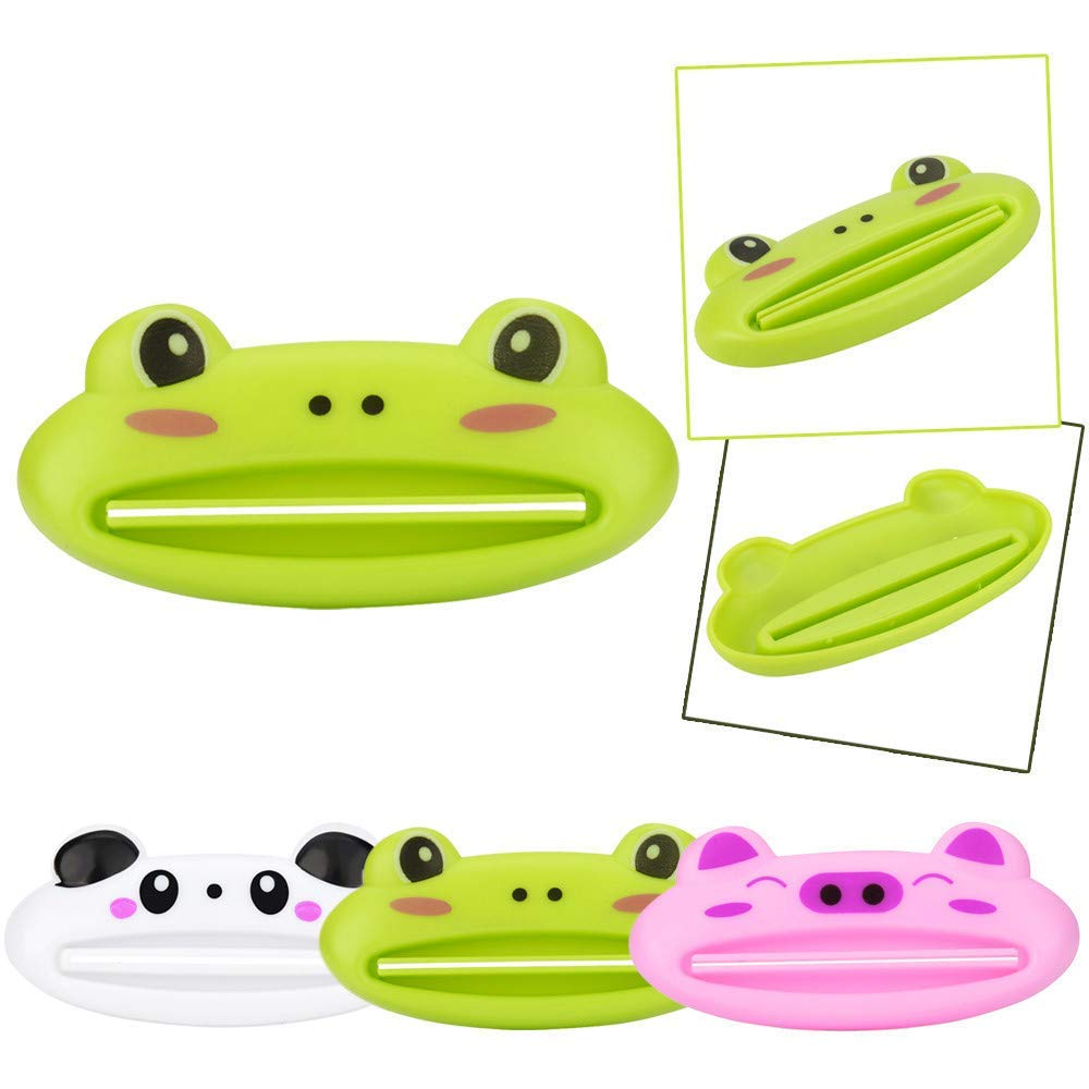 CocoMarket Home-Hot Bathroom Home Tube Rolling Holder Squeezer Easy Cartoon Toothpaste Dispenser (Green,One size)