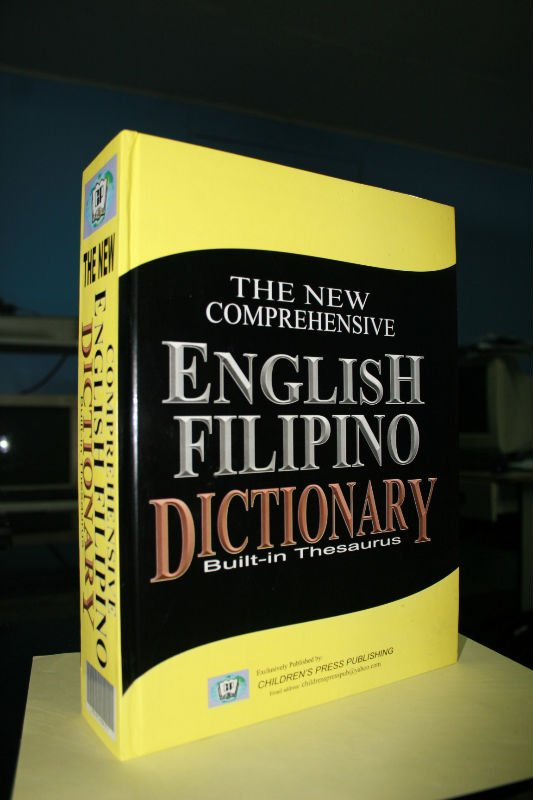 The New English-filipino Dictionary By Children's Press Publication - Buy  Efd Product on Alibaba com