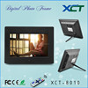 Wholesale bulk wall mounted gif lcd led 8 inch video loop digital picture frame memory cards usb ce rohs XCT-8010