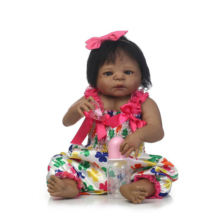 wholesale real life looking black full body solid silicone reborn baby <strong>dolls</strong>