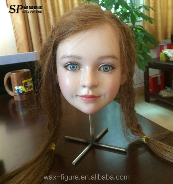 Super realistic handmade silicone mannequin head for sale