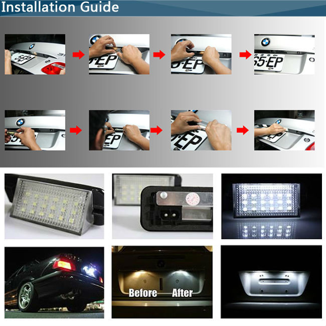 China Car Light Factory Led License Plate Lamp For Toyota For Subaru Canbus  No Error Code Number Plate Lamp - Buy License Plate Lamp,Car