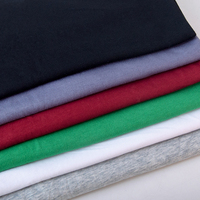 Organic 100% Cotton Single Jersey Knit Fabric stock Combed Cotton