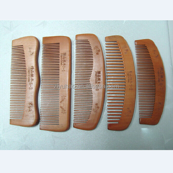Hottest Keep Healthy Personalized Wide Tooth Natural Wooden Hair Brush Comb