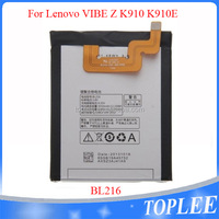 New arrival li-polymer 3000mah battery Rechargeable for Lenovo BL-216 Vibe Z K910 K6 X910 K910E Mobile Phone Batteries