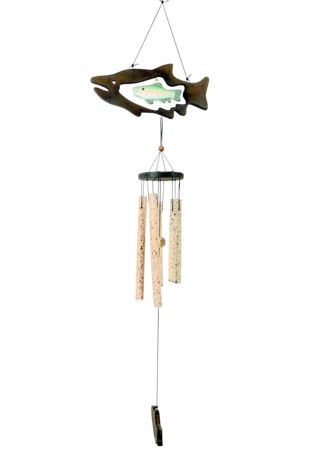 Cheap wooden palm tree wind chime find wooden palm tree wind chime get quotations wind chime outdoor wooden rainbow trout fish ceramic wind chimes wind chime bells buycottarizona Choice Image