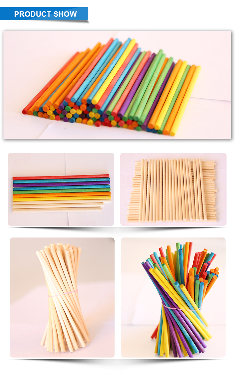 Wood Products sticks round ice cream sticks Short Round Sticks for sale