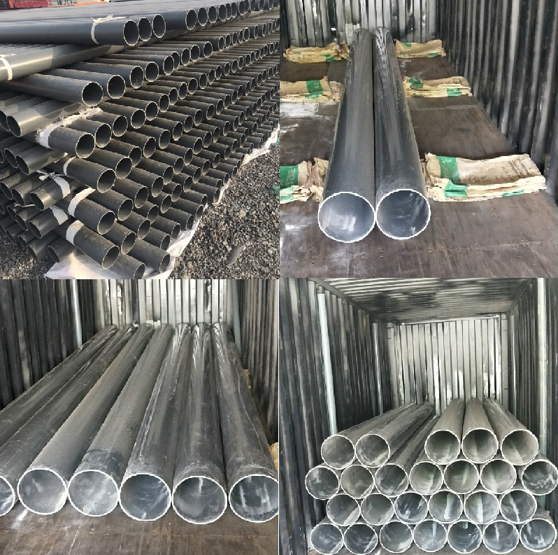 Customized pvc hydroponic pipe 8 inch 10 inch pvc water pipe