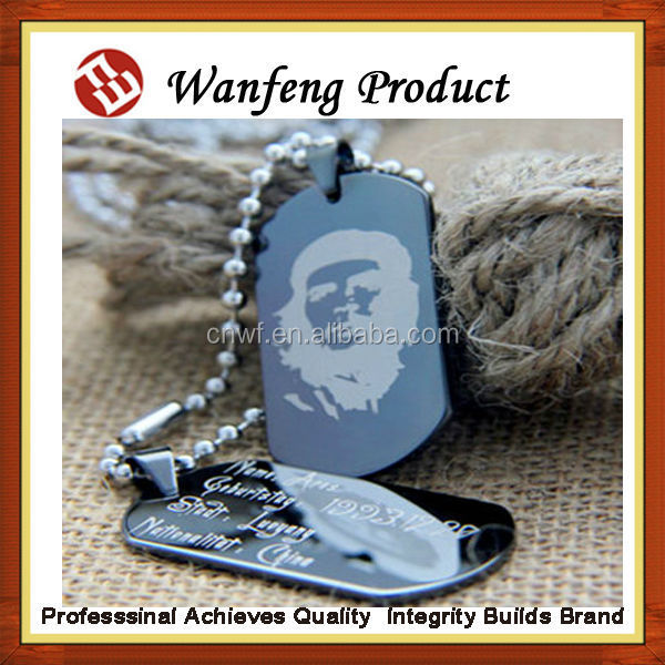 2015 New design Aluminum laser metal engrave military dog sex eu video tag adilia ,pet id tag