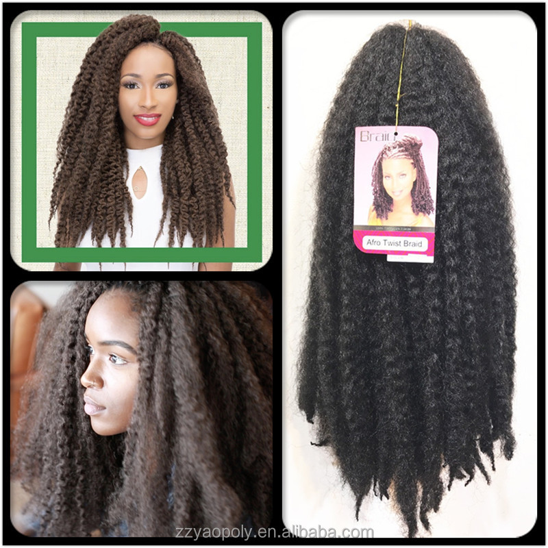 Crochet Newest Style Synthetic Twist Hair Extensions Afro Kinky