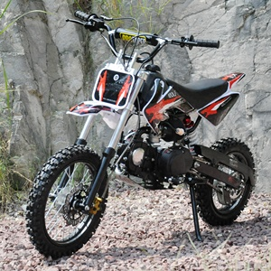 QWMOTO 125cc moto bike 4 stroke pit bike 14-12 wheels motorcycle CRF50 style 125cc engine dirt bike