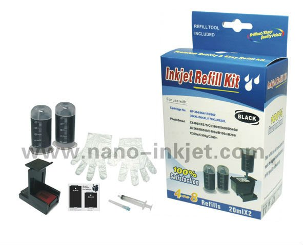 Ink refill tool kits for HP 60/61/62 ink cartridge