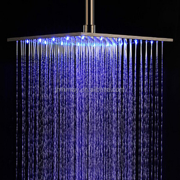 Hydro Power Rainfall Shower Head With Led Water Glow Generator ...