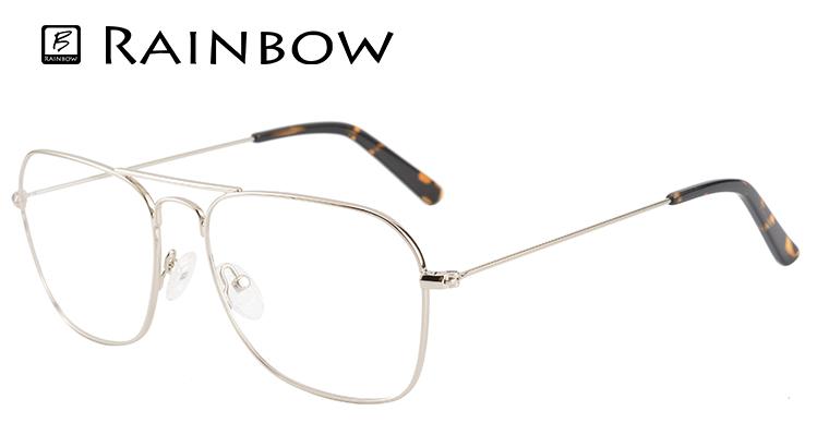 353d96c407b Classic old men glasses eyeglass double bridge gentleman matel optical frame
