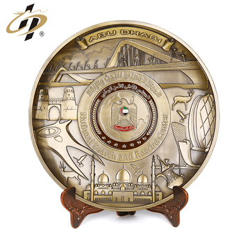 Wholesale custom antique UAE souvenir plates for national day