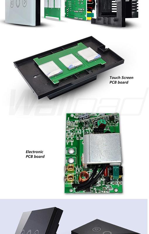 New Wallpad LED Black Crystal Glass 110~250V US/Australia Standard 3 gang  Wireless Digital Remote Control Touch Light Switch, View wireless remote