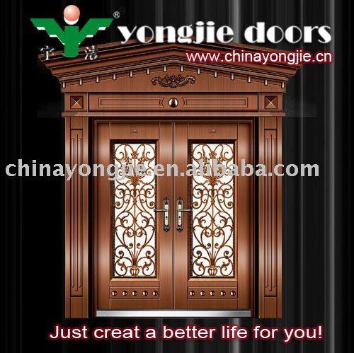 Imitar cobre puerta y puerta de metal con vidrio puertas for Puertas de metal con vidrio
