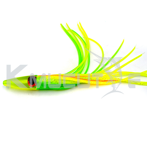 CHOCT3 Resin head trolling lure 23cm 32g resin head PVC skirts fishing lure soft octopus squid fishing bait
