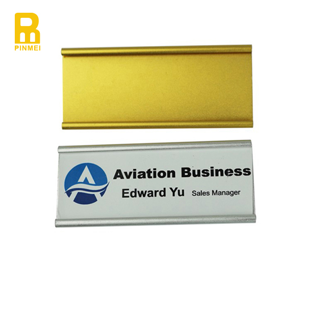 Gold Color Aluminum Plate Digital Name Badge With Magnet - Buy Name  Badge,Digital Name Badge,Name Badge Product on Alibaba com