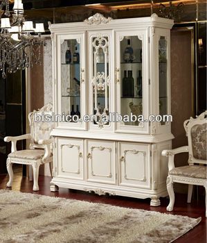 Luxury French Style dining room furniture showcase cabinet ...