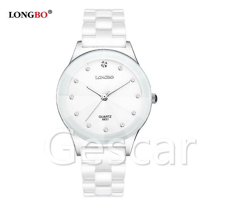 relojes mujer marca de lujo longbo nueva moda cermica chica reloj atm impermeable reloj de