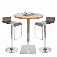Latest Released Quality Bistro Table Well Made Stainless Steel Bar Table With Natural Color Brushing