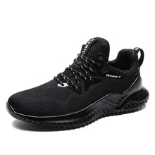 Mannen lace up lichtgewicht ademend fly knit sneakers <span class=keywords><strong>schoenen</strong></span>