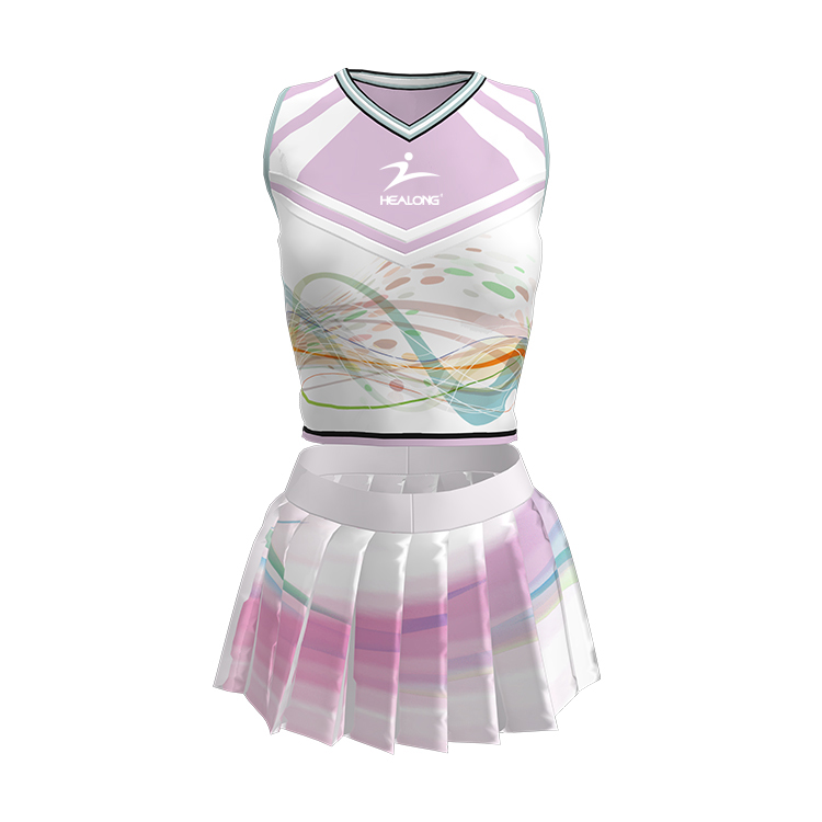 Short Sleeve Full Sublimation Wholesale Sexy Custom Cheerleading Uniforms